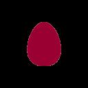 oeuf icone rouge