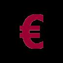 euro icone rouge
