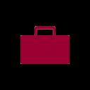 icône de mallette rouge