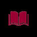 icône de livre ouvert rouge