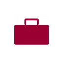 briefcase icon red