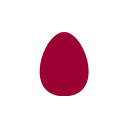 egg icon red