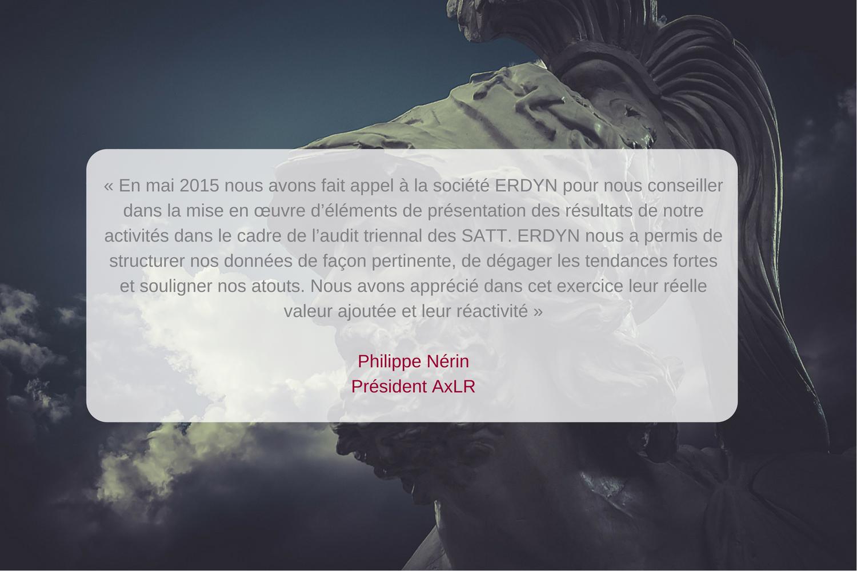 Témoignage de Philippe Nérin, Président d'axlr