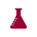 Erlenmeyer flask icon red
