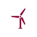 wind turbine icon red