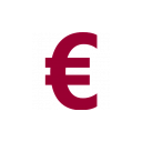 euro icon red