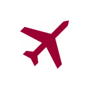 plane icon red