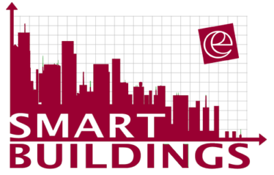 Logo smart buildings et logo erdyn en rouge